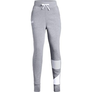 Under Armour Rival Jogger Steel Light Heather/White – YL
