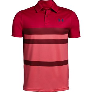 Under Armour Tour Tips Engineered Polo Lava – YL