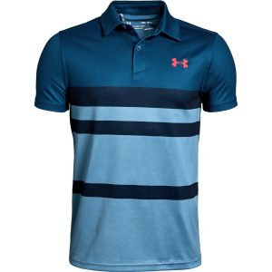Under Armour Tour Tips Engineered Polo Petrol Blue – YL