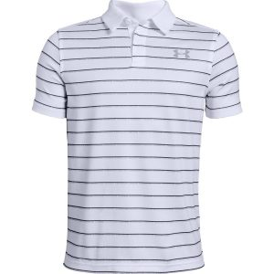 Under Armour Tour Tips Stripe Polo White – YL