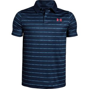 Under Armour Tour Tips Stripe Polo Petrol Blue – YL
