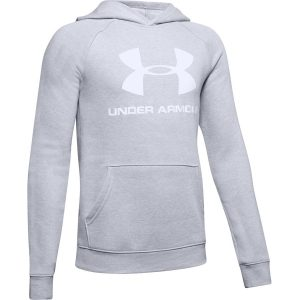 Under Armour Rival Logo Hoodie Mod Gray Light Heather – YL