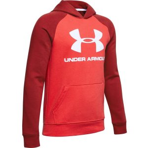 Under Armour Rival Logo Hoodie Martian Red – YL