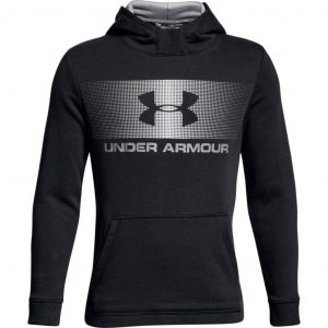Under Armour Ctn French Terry Hoody BLACK / WHITE / WHITE – YXS