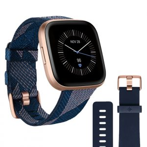 Fitbit Fitbit Versa 2 Special Edition Navy & Pink Woven